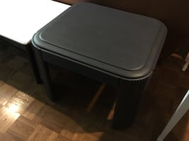 Simple coffee table refurbished w/Fusion Paint, dark gray. Delivery