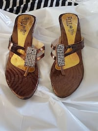 brown-and-gold Stylo flat sandals Calgary, T3J 3C8