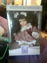 hand crafted porcelain doll in box
