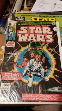 Reprint of 1977 star wars comic.  Houston, 77064