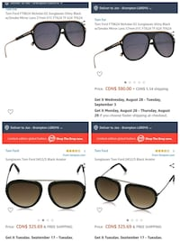 Tom Ford Aviator and Tom Ford Nicolai for sale Brampton, L6R 0Y6