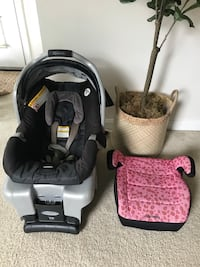 baby's black and pink car seat carrier Silver Spring, 20906