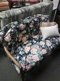 blue and pink floral couch Leawood, 66209