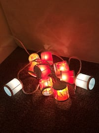 String lantern lights (red and blue)