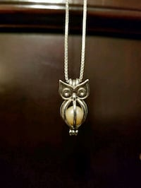 Real pearl owl necklace Keller, 76244