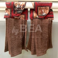 Two (2) chef kitchen towels - brown Tampa, 33612