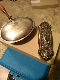 Silver toned vtg items