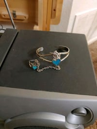 Unicorn Bracelet With Ring Attached.