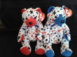 Ty Beanie Babies Red and Blue 10yrs