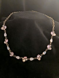 *NWT* Silver and Pink Jeweled Necklace Leesburg, 20176