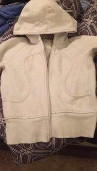 white zip-up hoodie jacket Medicine Hat, T1A