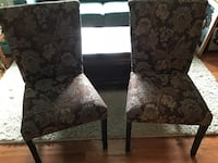 Two brown floral padded chairs.  Can be used in the living room or dining room. $75 for Both Woodbridge, 22193