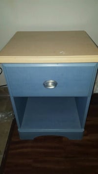 blue and white wooden single-drawer end table Barrie, L4N 7P8