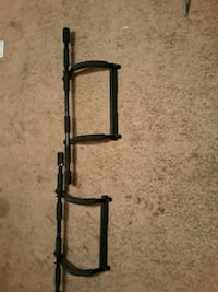 Two indoor Gold's Gym pull up bars