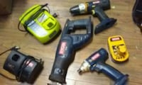 two black and blue cordless power tools 3119 km