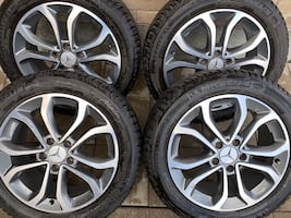 4 x BRAND NEW 225/50/17 WINTER TIRES AND OEM MERCEDES RIMS $$$1150