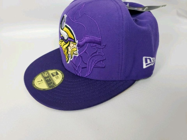 Used purple and yellow fitted cap for sale in Ankeny - letgo 64166bf5f37