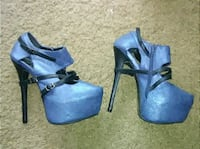 Awesome size 9 blue and black heels Albuquerque, 87111