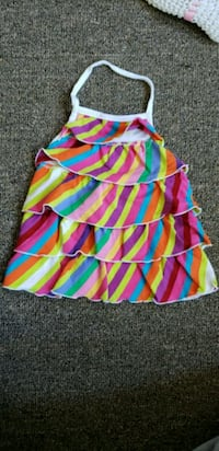 pink, blue, and green stripe sleeveless dress Laval, H7N 1L5