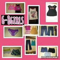girl's assorted clothing collage Kerrville, 78028