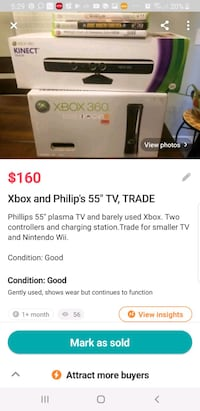 "Xbox and Philip's 55"" TV, TRADE"