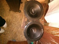 two black-and-gray subwoofers Abilene, 79603