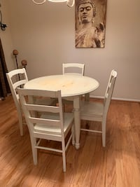 White wash dining table and chairs Fairfax, 22032