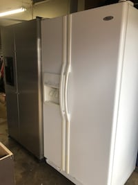 white side by side refrigerator with dispenser Arlington, 76014