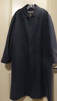 BILL BLASS Black Label Men's Trench Coat with Removable Lining Size 42 Gaithersburg