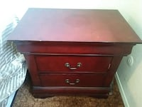 red wooden 2-drawers nightstand Stockton, 95203
