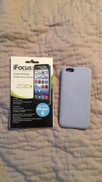 gray iFocus screen protector and gray iPhone case Lake Country, V4V 1J1