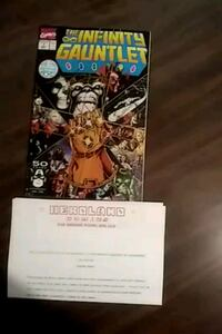 # 1 The Infinity Gauntlet singed comic book