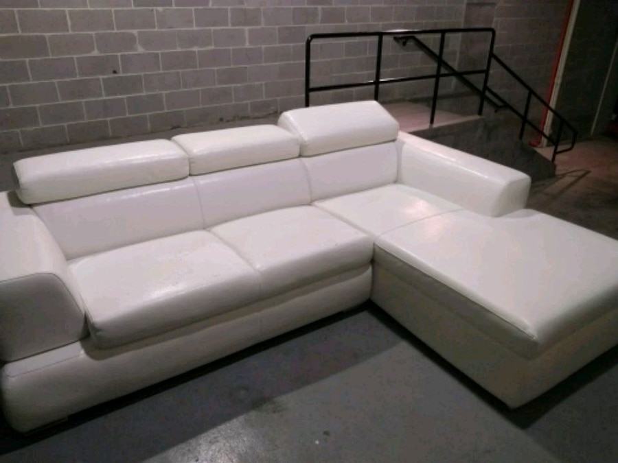 used contemporary white leather l shape couch for sale in atlanta rh gb letgo com