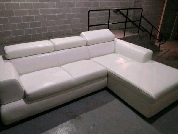 Used Contemporary White Leather L Shape Couch For In Atlanta Letgo
