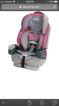 New in the box graco nautilus 3-in-1 harness booster car seat - model valerie. nd pink car seat screenshot