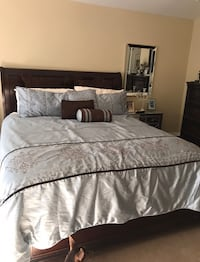 Cal King bed only. No mattress. Also have two matching night tables, $25 each. Los Angeles, 91344