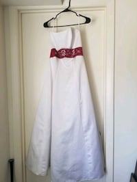 White and red Alexia bridesmaid dress Reisterstown, 21136