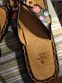 Size 8 brand new leather sandals