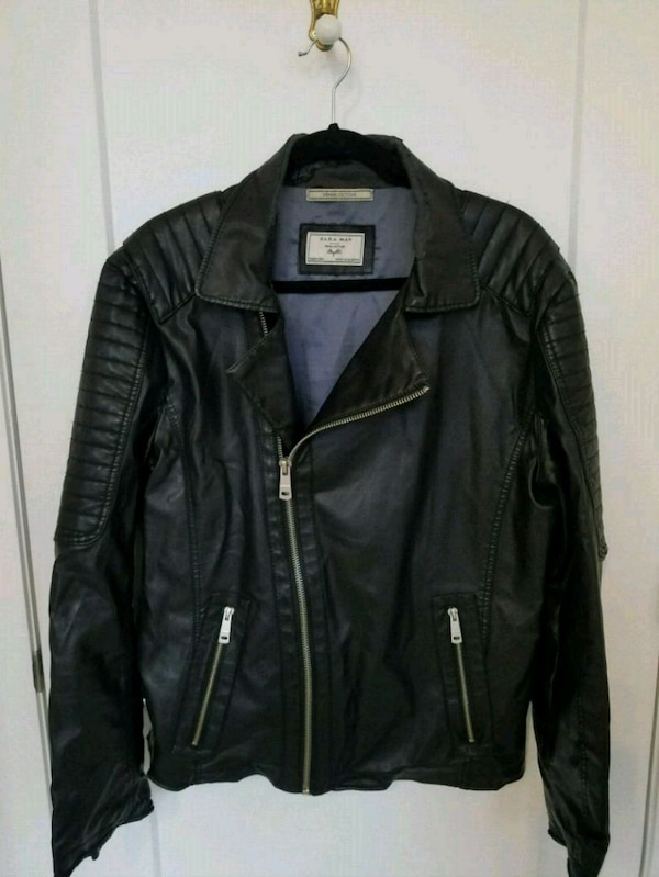 9bc2f8ee812 Used Zara pleather mens jacket for sale in Montreal - letgo