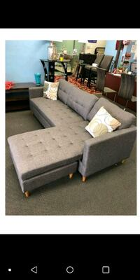 white and gray fabric sectional sofa Austin