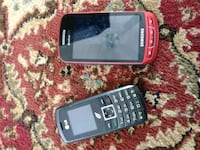two black and red Samsung phones Traverse City, 49685