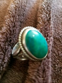 silver-colored ring with teal gemstone Santa Fe, 87508