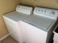 Kenmore series 800 washer and dryer- white