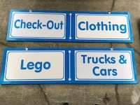 TOYS R US STORE DEPARTMENT SIGNS! TRU! MAN CAVE GAME ROOM BAR ARCADE PINBALL! Havertown, 19083