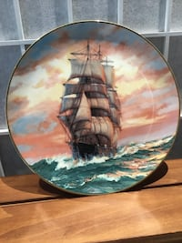 """Clipper Ship Plate """" The Blue Jacket at Sunset"""" Towson, 21286"""
