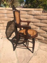 Chair - Beautiful hand carved, hand woven cane chair. San Diego, 92115