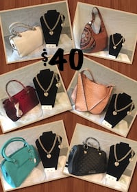 assorted color leather tote bags 55 km