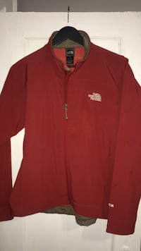 The north face jacket zip up coat