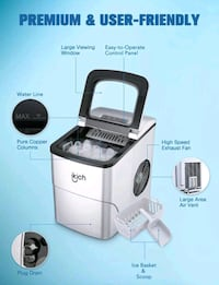 Ikich Countertop Ice Maker Machine  New in open box. Tested as working Westport, 02790