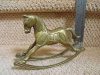 Brass rocking horse and horse figurine Whitby, ON, Canada